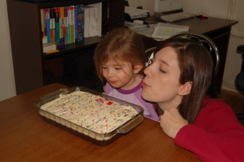 Make a wish! (Were still learning to blow out those candles.)