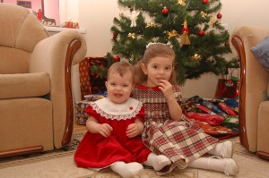 Abigail Hope and Rebekah Praise, Christmas Eve 2008