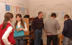 Fellowship time after ABS. A great time to practice English or Ukrainian, depending on which language you're learning!