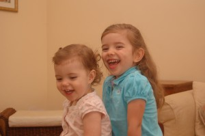 Beka and Abby are growing all the time! Abby will be four in September. Beka is 19 months.