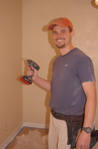 Yep, this is me running around and trying to be useful with my new toy - a Bosch impact driver.