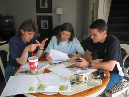 Planning the wedding at the Powells' home in Canada