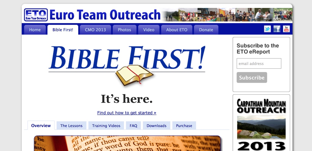 Bible first is here