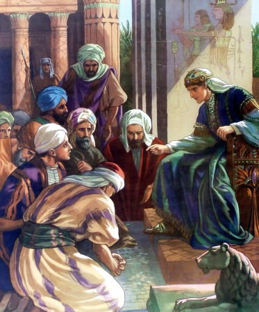 Joseph meets his brothers in Egypt.