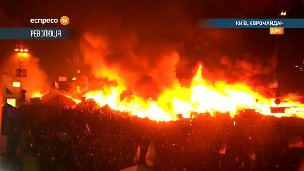 Kyiv burning