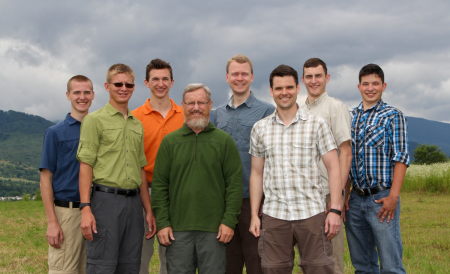 The CMO 2015 team. From the left: Isaiah, Emanuel, Caleb, Ben, Nathan, Joshua, Joe, and Adam.